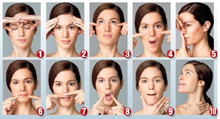 Scandal! Facial muscle toning exercises