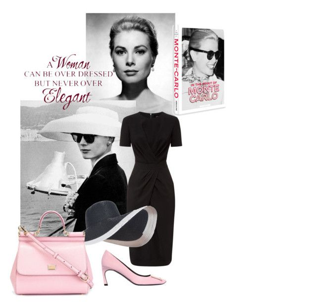"""""""The age of elegance"""" by aina-lukauskiene ❤ liked on Polyvore featuring Grace, Jaeger, Roger Vivier, Dolce&Gabbana and Assouline Publishing"""