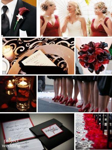Red, black white wedding. | Wedding | Pinterest | Red black ...