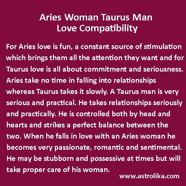 Aries Woman and Taurus Man Love Compatibility | Taurus man