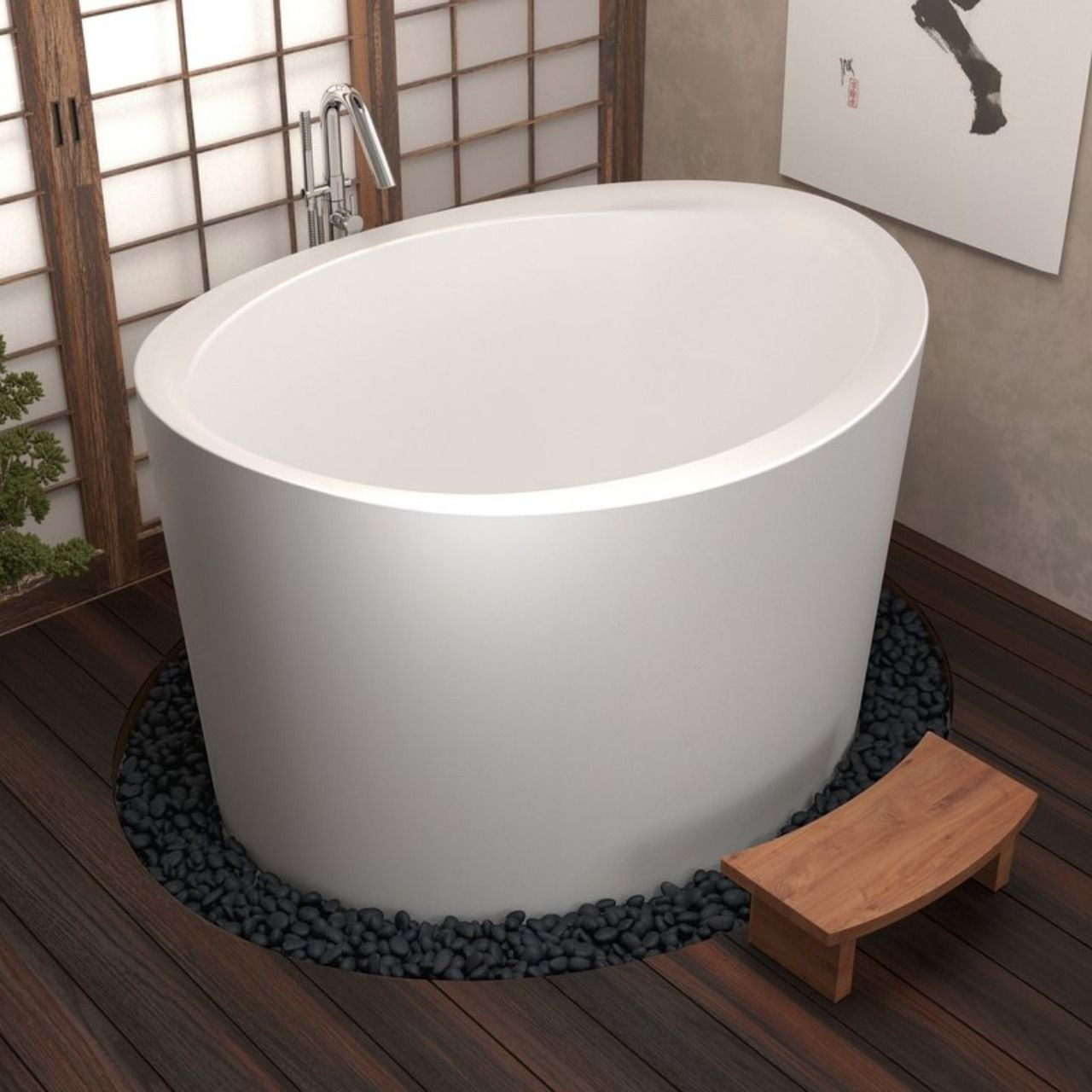 Aquatica True Ofuro Duo Outdoor Japanese Soaking Bathtub