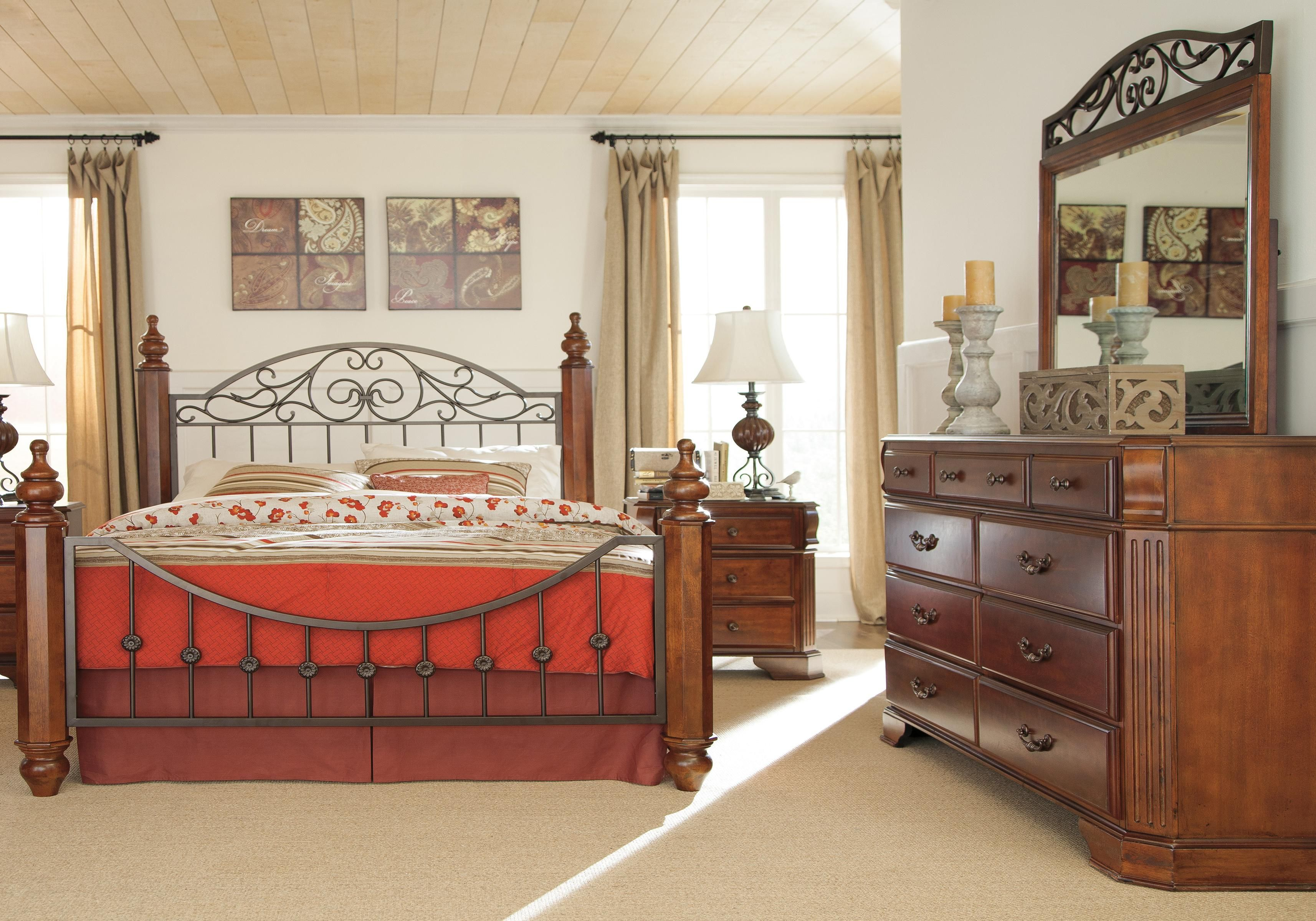 4 Piece Queen Bedroom Group | Bedroom sets, Bedroom set ...
