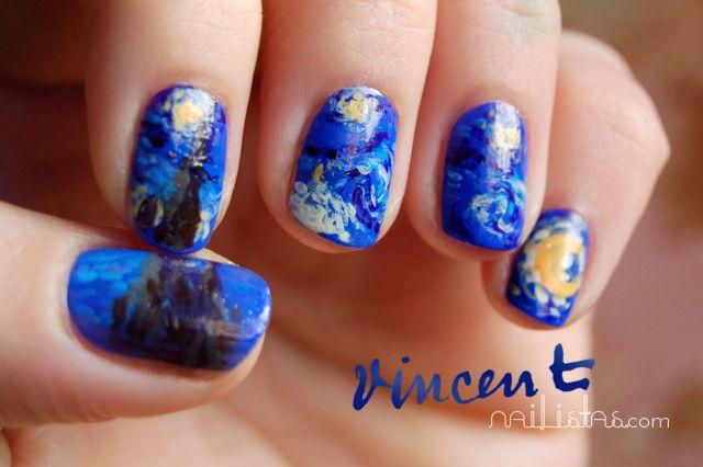 U as acrilicas decoradas azules imagui - Unas azules decoradas ...