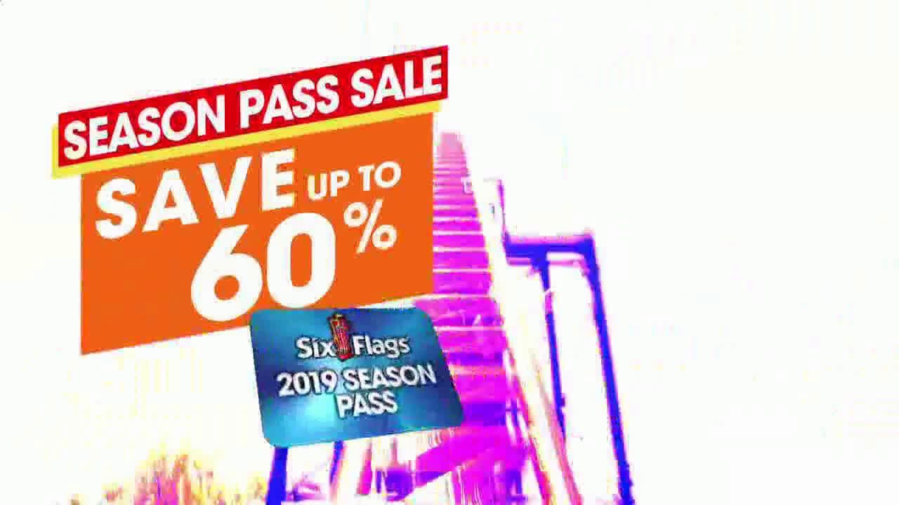 Six Flags Season Pass Sale Spring Break 60 Percent Ad Commercial On Tv 2019 Six Flags Season Pass Tv Commercials Spring Break