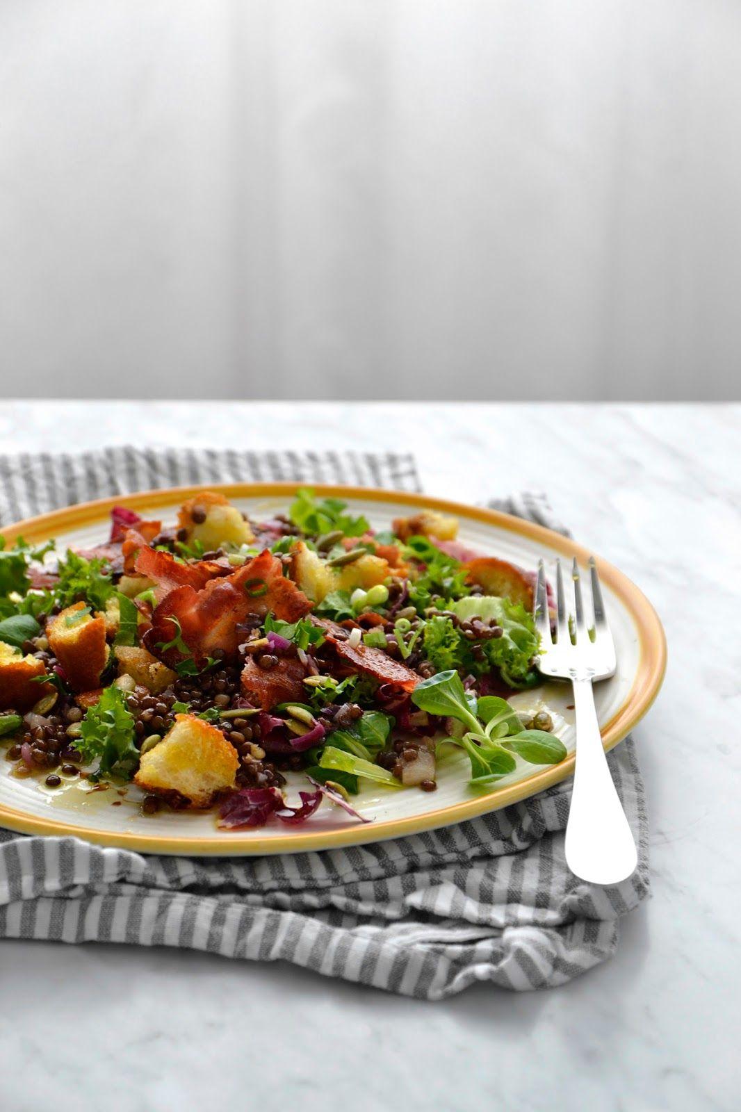 Salade De Lentilles Lardons : salade, lentilles, lardons, Simple, Comme, Salade, Lentilles, Croustillant, Cuisine, C'est, Lentilles,, Salade,, Idée, Recette