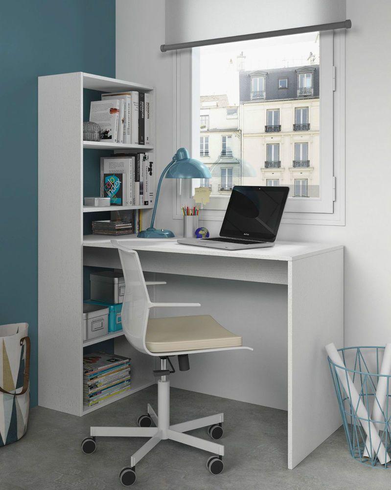 Modern White Corner Computer Study Desk Office Table Furniture White Computer Desk Bookshelf Desk Corner Computer Desk