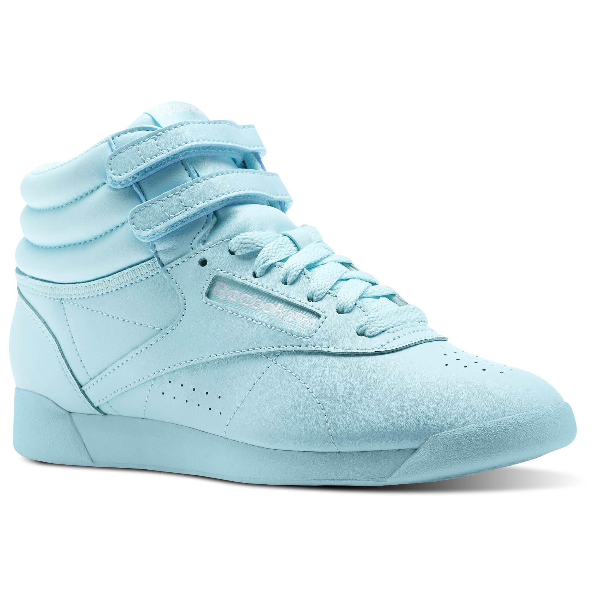 With Poppin Personality These Women S Freestyle High Colors Sneakers Show Your Individuality The Sof Reebok Freestyle Womens High Top Sneakers Sneakers Blue