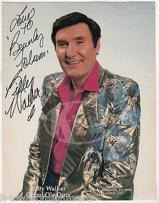 BILLY WALKER COUNTRY WESTERN MUSIC SINGER VINTAGE AUTOGRAPH SIGNED PHOTO PRINT