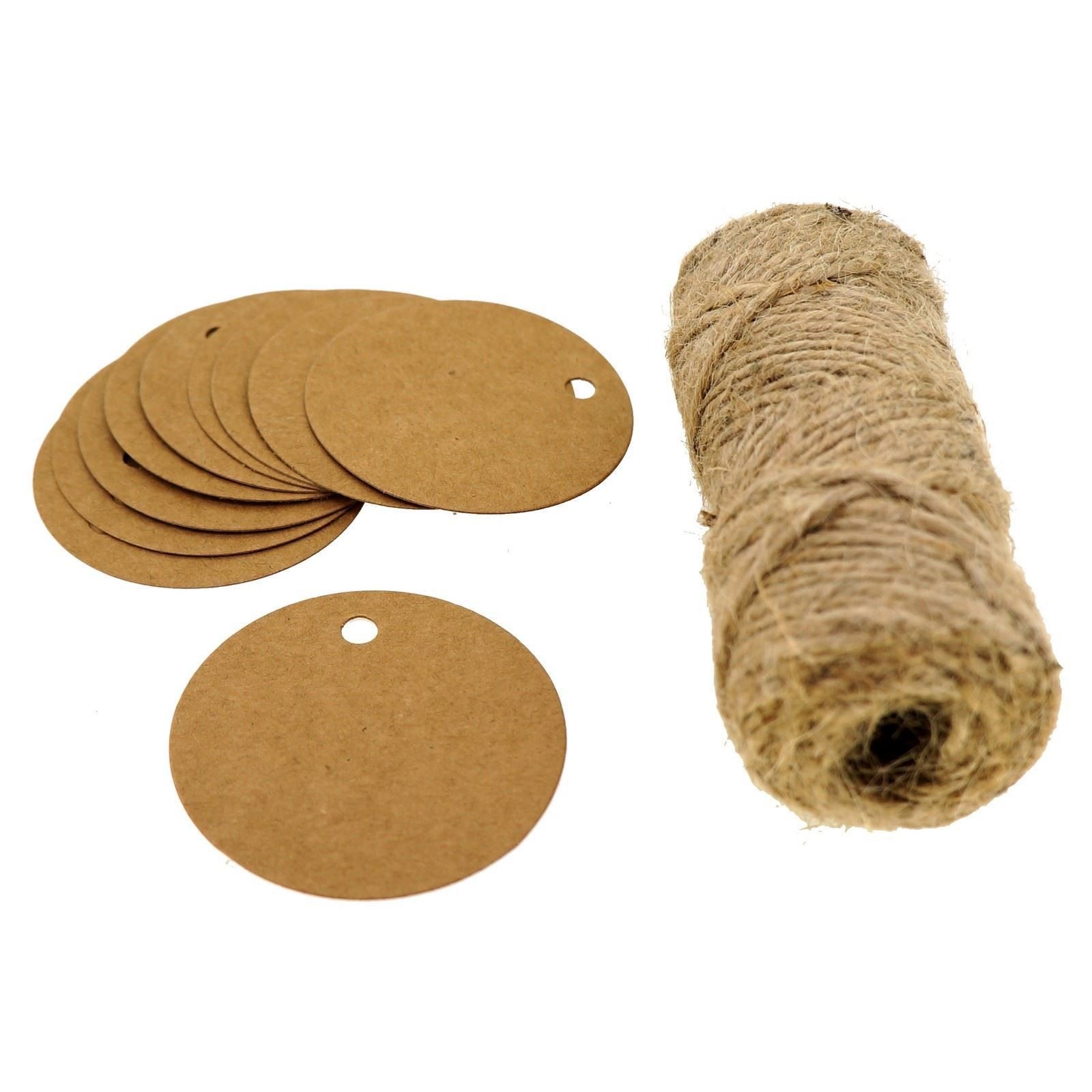 Round kraft paper gift price tags with jute twine for gift round kraft paper gift price tags with jute twine for gift wrapping packaging set jeuxipadfo Choice Image
