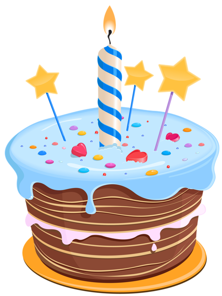 Birthday Cake with Stars PNG Clipart