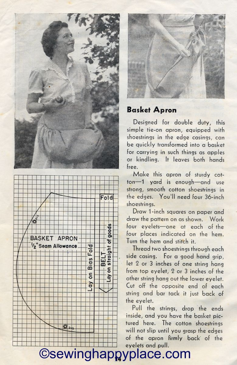 Berry Picking Apron Tutorial From 1944 USDA Farmers Bulletin http ...