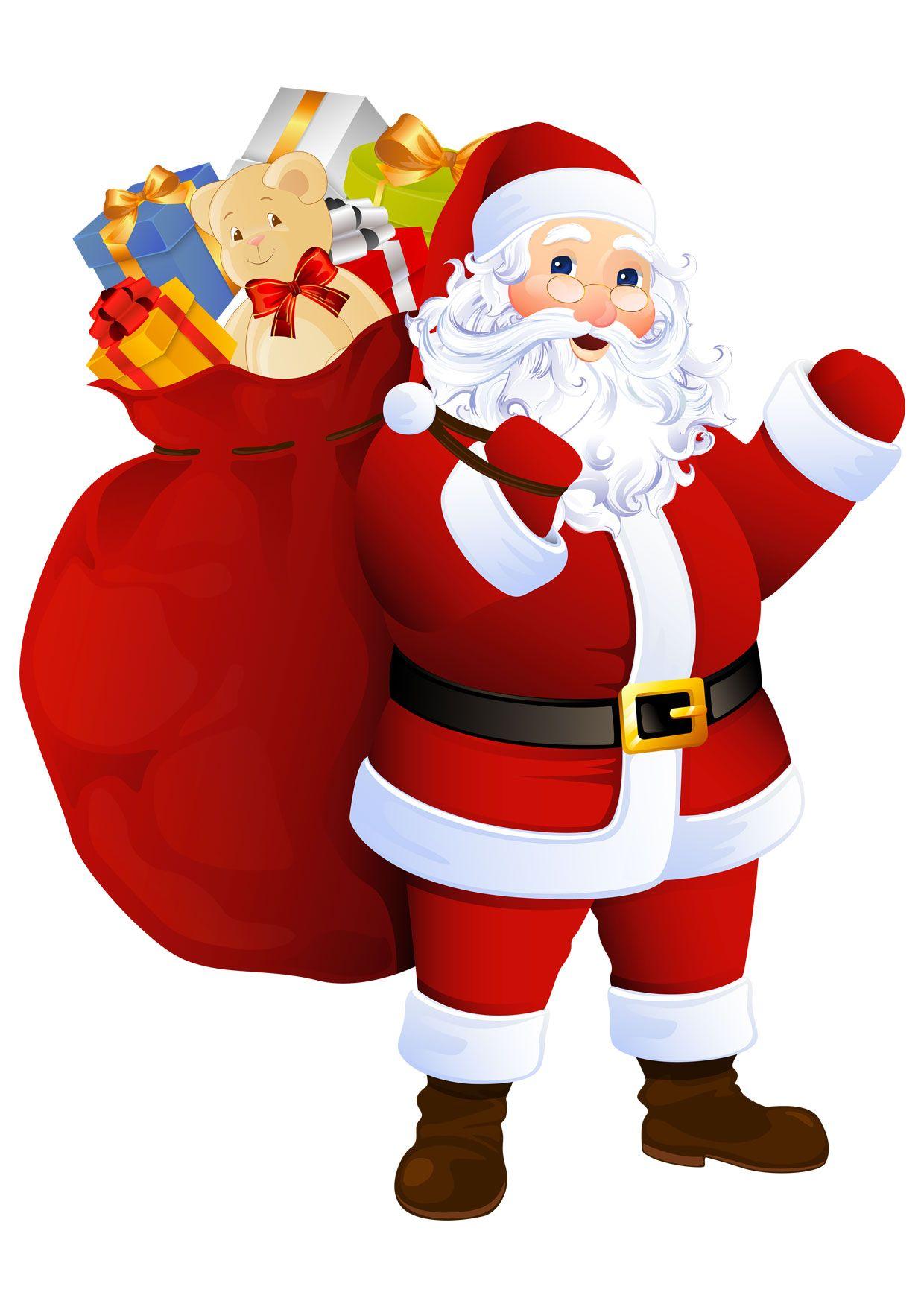 Disegni Di Natale Vettoriali.30 Disegni Di Babbo Natale Gia Colorati Da Stampare Christmas