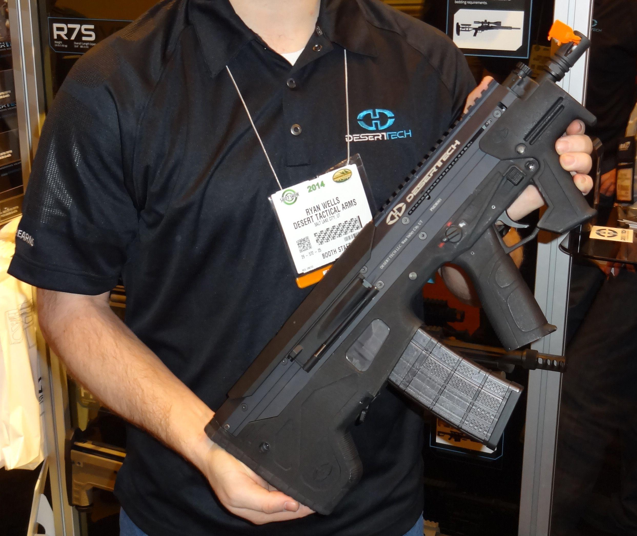 2014 SHOT show Desert Tech MDR bullpup Guns, Shot show