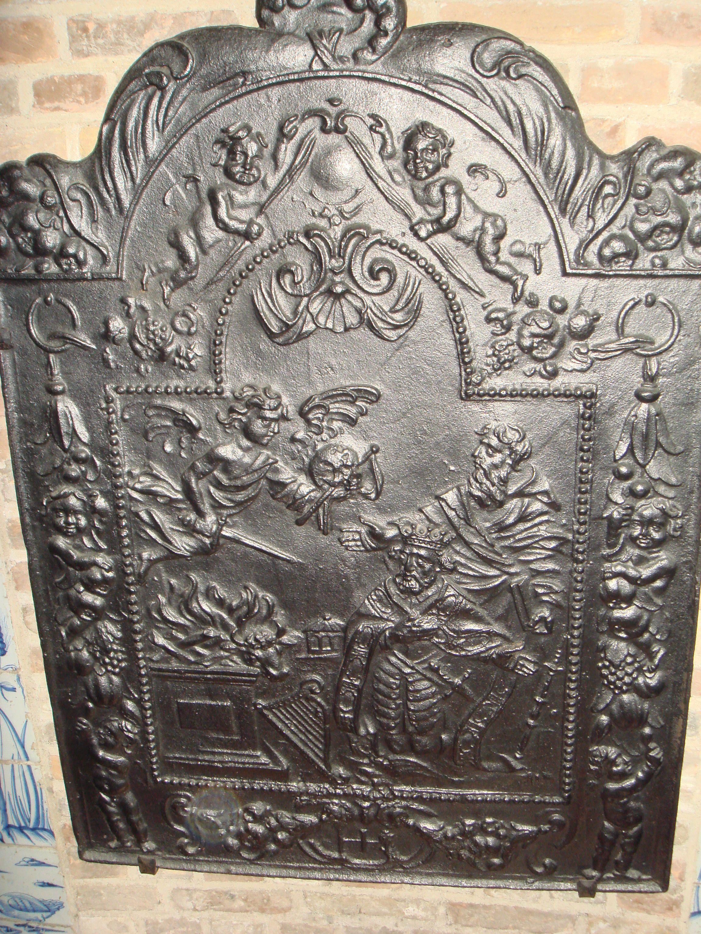 Haardplaat Middelburg 17 de eeuw