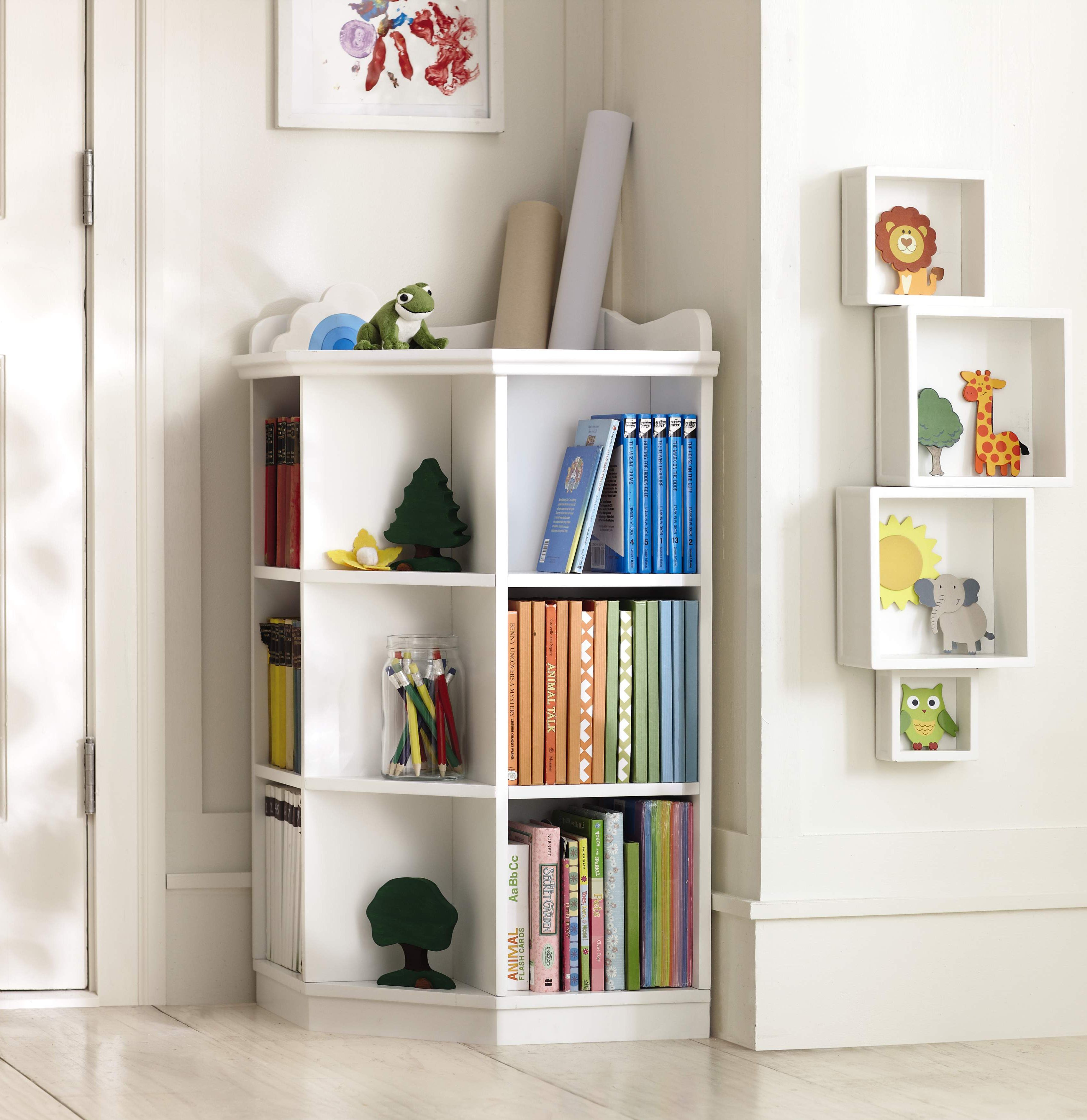 Perfect For An Awkward Corner This Bookcase Will Keep Any Playroom Organized HomeDecorators