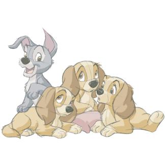 Lady And The Tramp Puppies Disney Drawings Disney Art Disney Fan Art