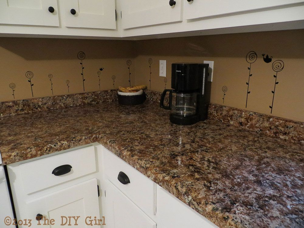 $70 Countertop Fix   Giani Granite Paint Part 2   The DIY Girl