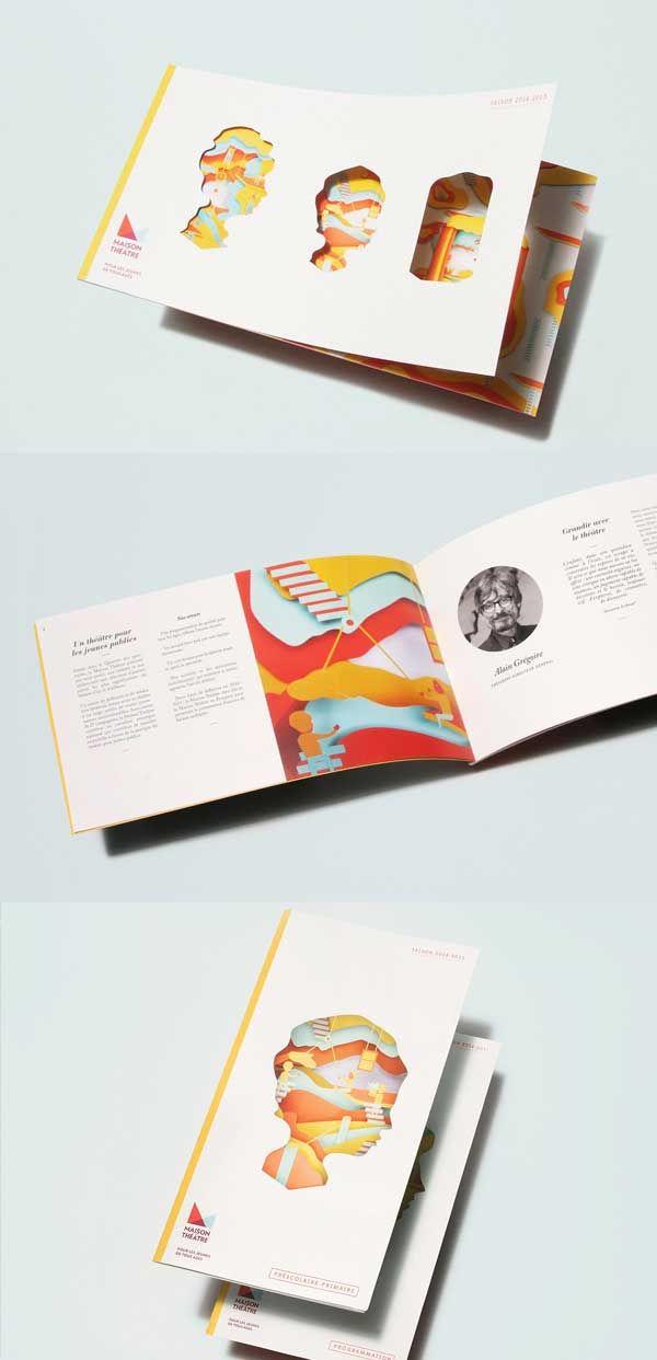 die cut brochure design example