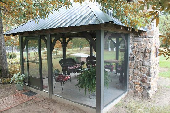 Screen Enclosures Mother Earth News Outdoor Screen Room Screened In Patio Patio Gazebo