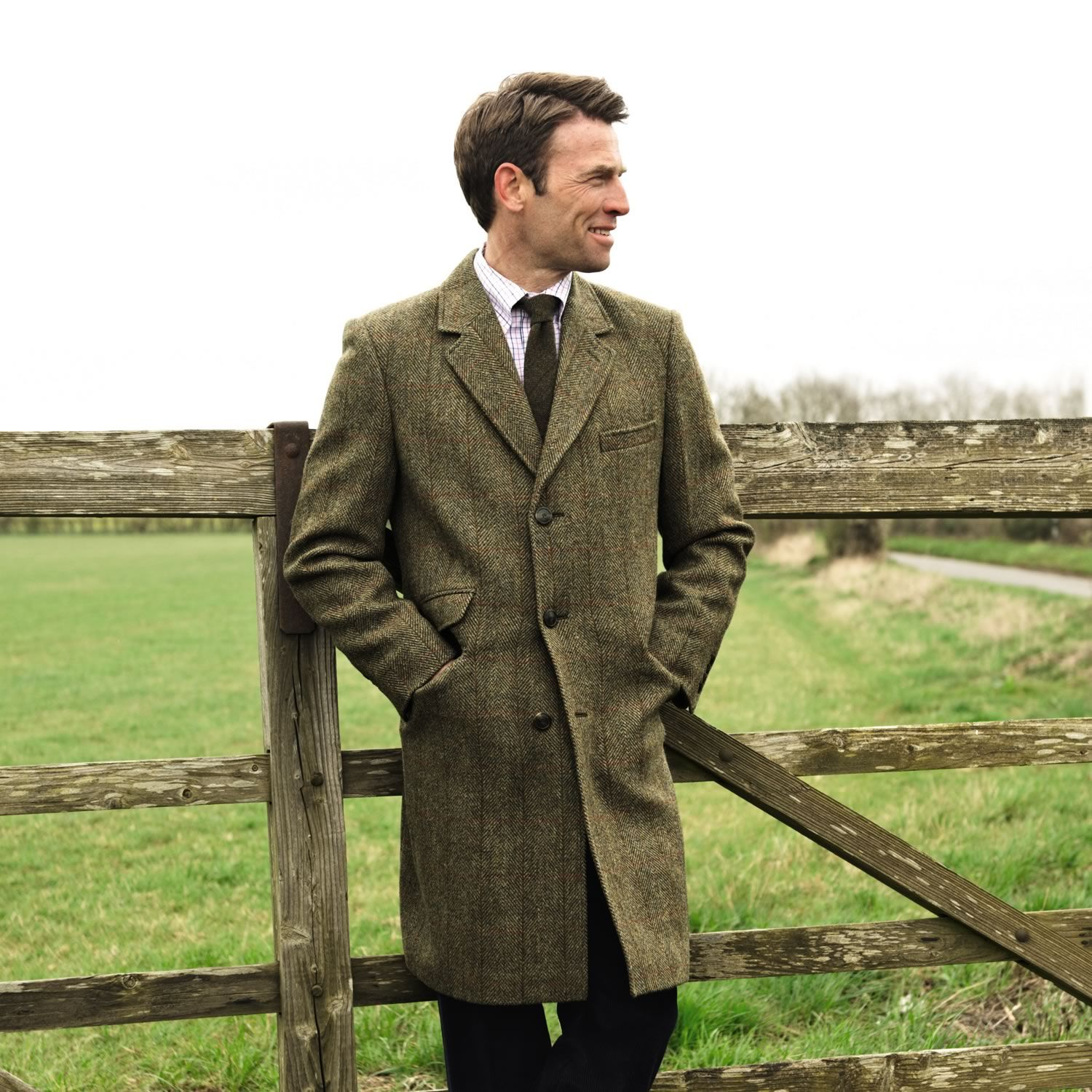 Harris tweed coat | Men's coats from Charles Tyrwhitt ...