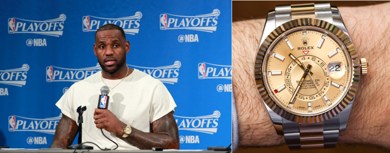 NBA superstar LeBron James has been spotted wearing a Sky
