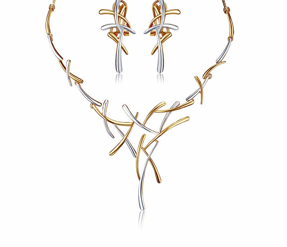 Please the fashion gods with this Twig Style 2 Colo.... Find it here http://alljewellers.com/products/twig-style-2-color-jewelry-set?utm_campaign=social_autopilot&utm_source=pin&utm_medium=pin