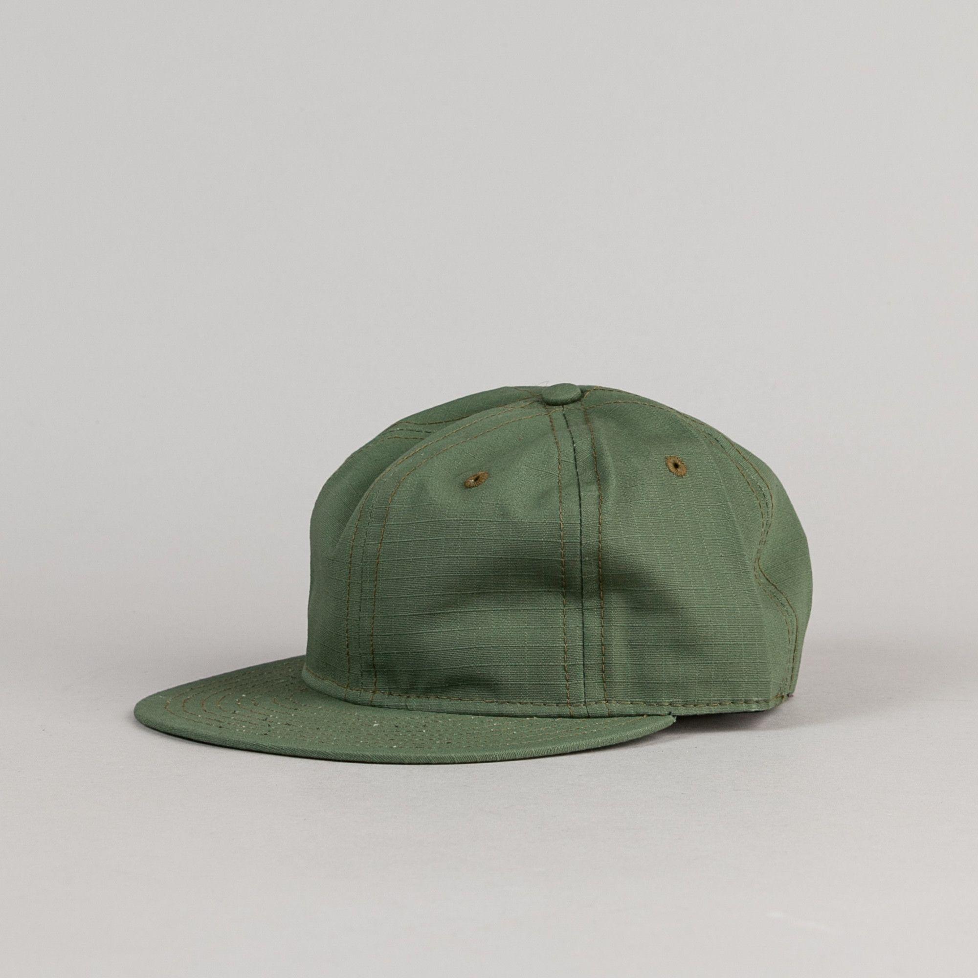 f18cda64f Ebbets Field Flannels Rip-Stop Cap - Olive Drab | Headwear | Flannel ...