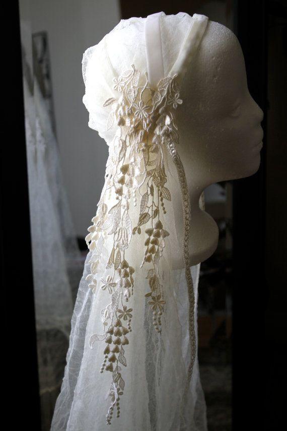 Juliet Bridal Cap With Lace Appliques Custom Bridal Cap For Shana