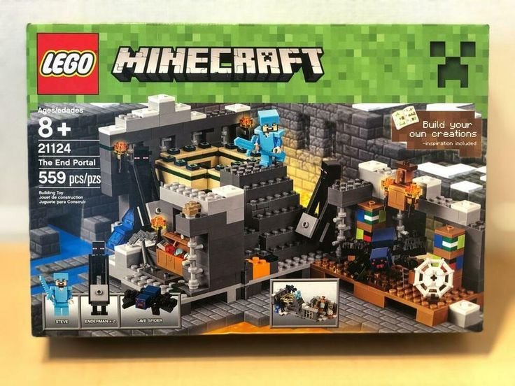 New Lego Minecraft Cave Spider Minifigure from set 21124 Unassembled
