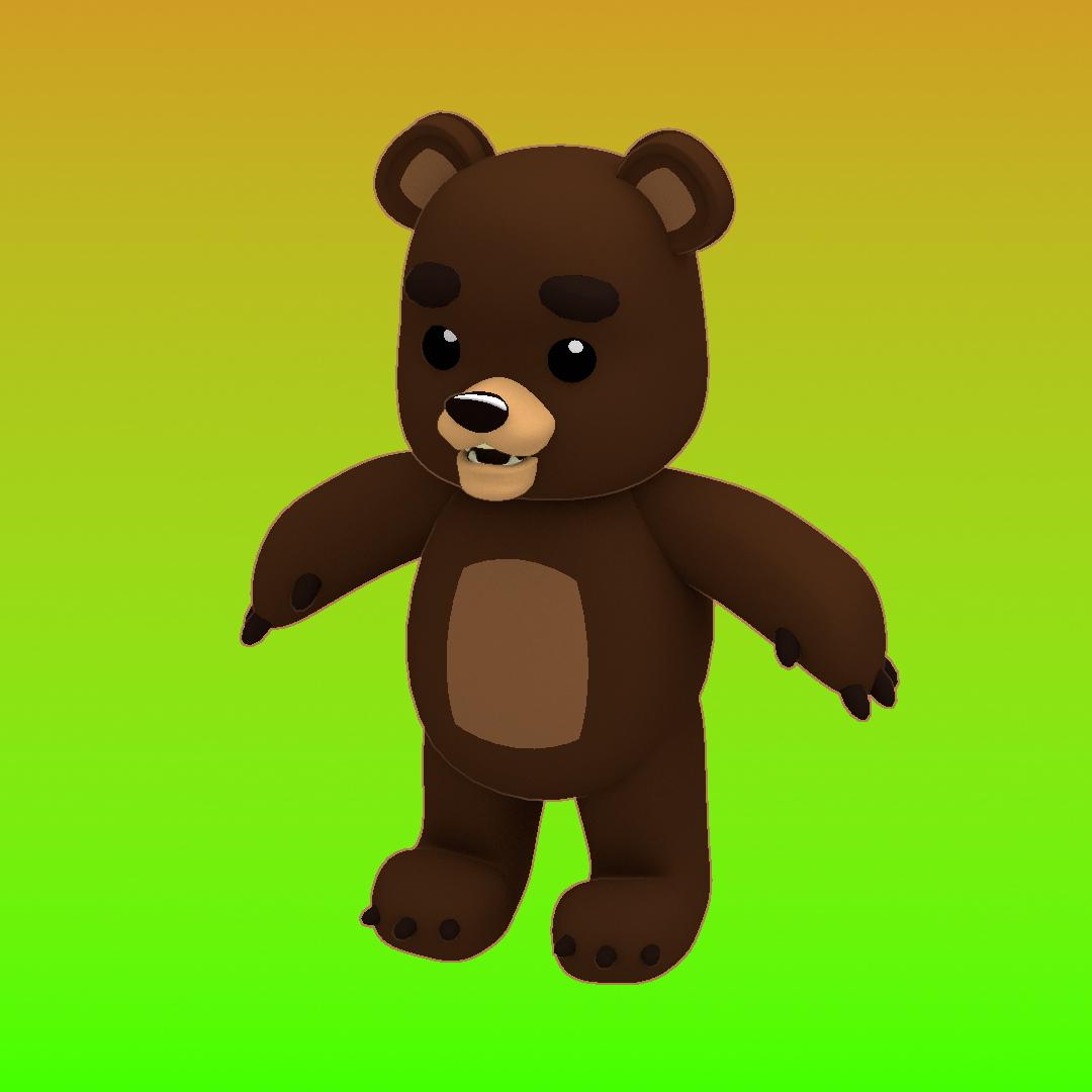 Cartoon Teddy Bear Model 3D Model- I Did This Teddy Bear