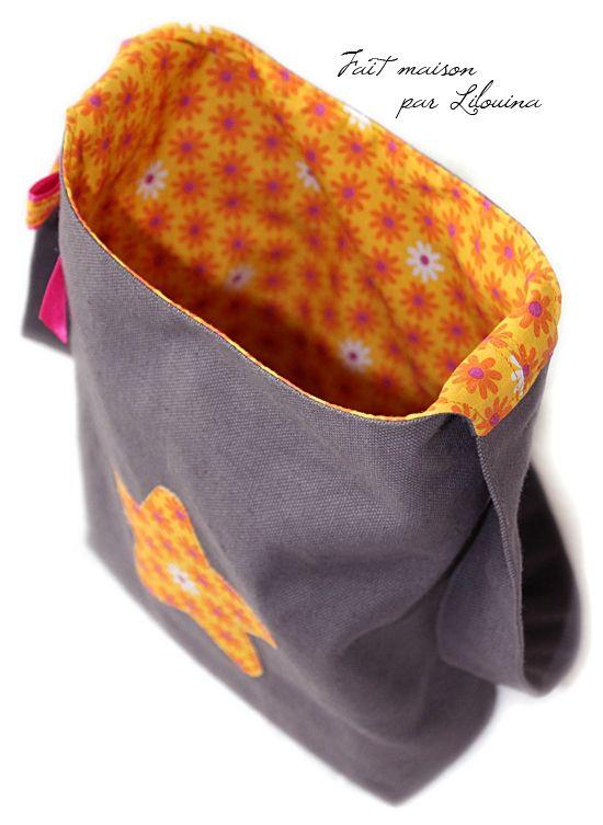 sac en toile pour petite fille tuto pour tes soeurs couture patron pinterest sac en. Black Bedroom Furniture Sets. Home Design Ideas