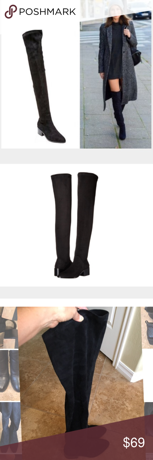 b1616875b39 Steve Madden Gabriana Black over the knee boots, size 7, true to ...