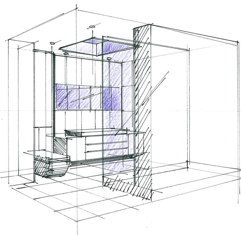 croquis d 39 un concept cube salle de bains philippe ponceblanc architecte d 39 int rieur http www. Black Bedroom Furniture Sets. Home Design Ideas
