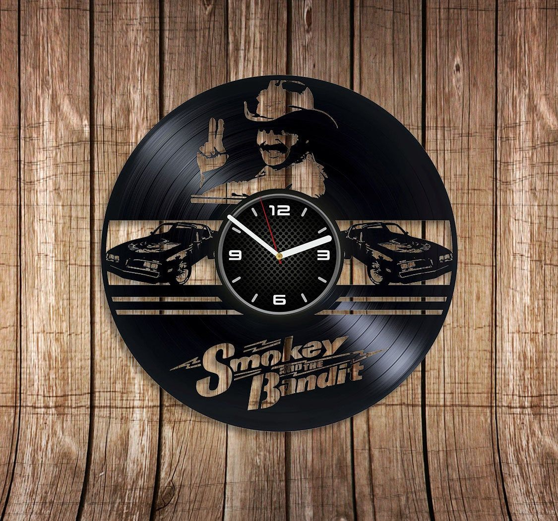 Smokey And The Bandit Gift Birthday Gift For Fan Film Art Wall Clock Vintage Smokey And Bandit Vinyl Clock Movie Art Wall Clock Exclusive By Vinylvincer On Reloj