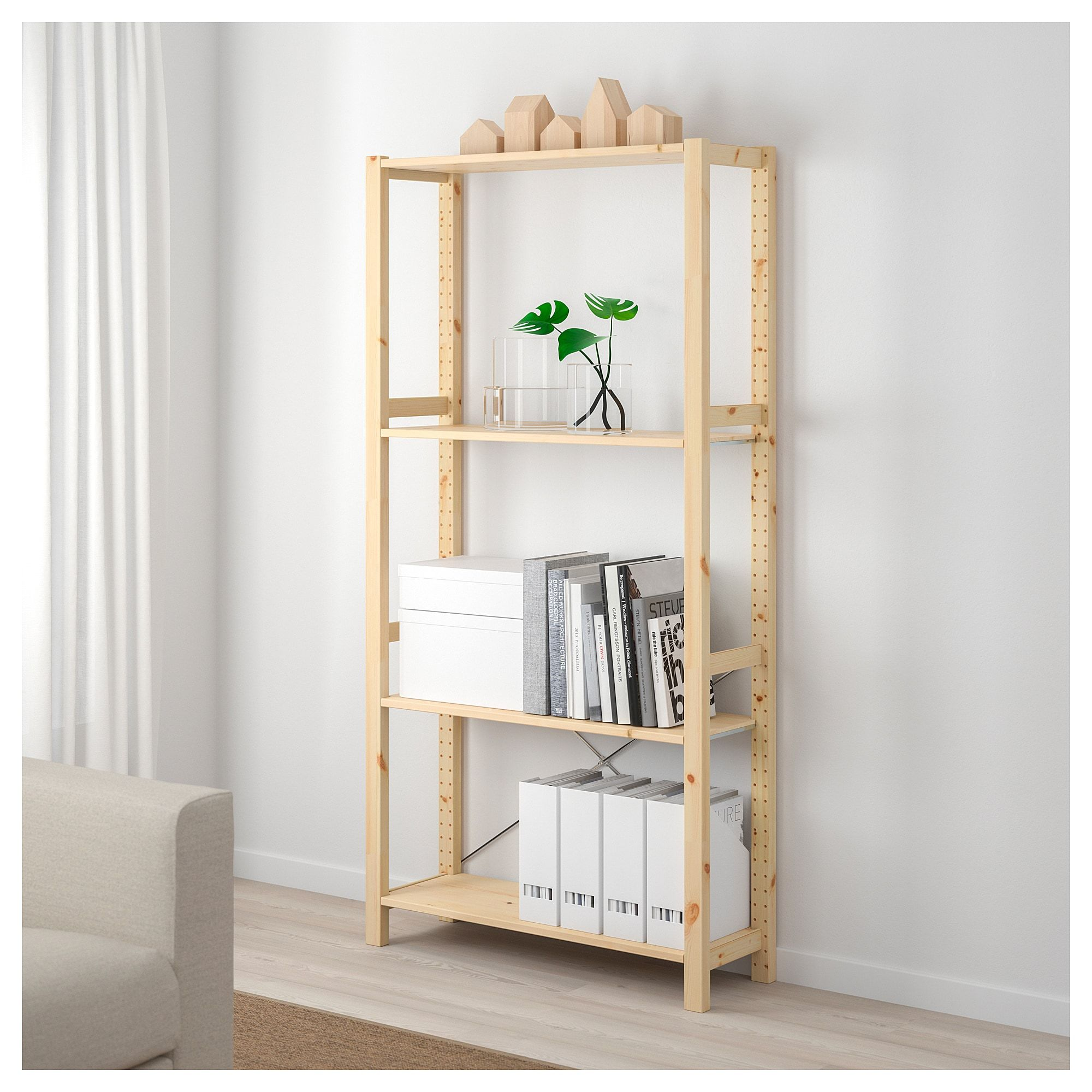 Ivar Shelving Unit Pine 35x11 3 4x70 1 2 Shelving Unit Ikea Shelves