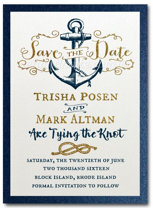 Save The Date Rustic Nautical Anchor Invitation Di 5004sd Nautical Wedding Invitations Nautical Invitations Anchor Invitations