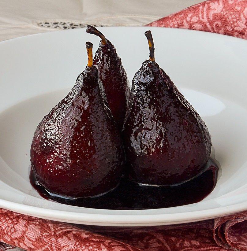 Receta De Peras Al Vino Tinto Recetas Con Peras Postres Dulces Diabeticos