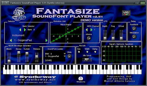 Fantasize SoundFont (SF2) Player VST Musical Instrument Software