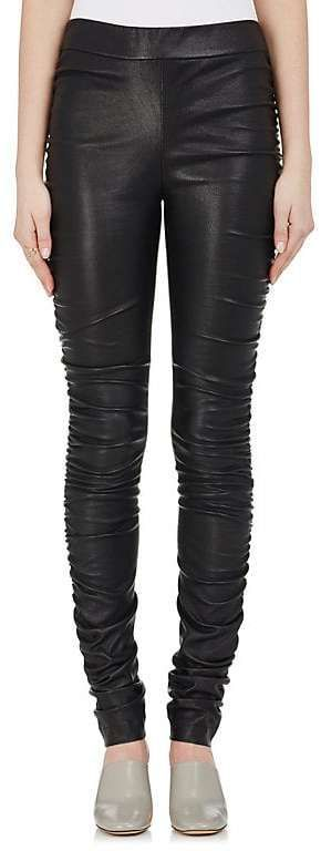 abf88f17dfc4e6 The Row WOMEN'S ORSHEN RUCHED LEATHER LEGGINGS | Products | Leather ...