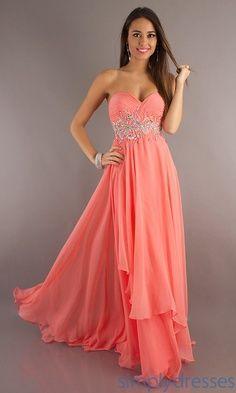 Long Strapless Prom Dress by Alyce Paris Morganite | best stuff I love this dress
