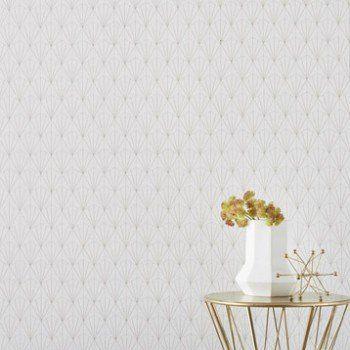 Papier peint intissé Geo d blanc | Leroy Merlin