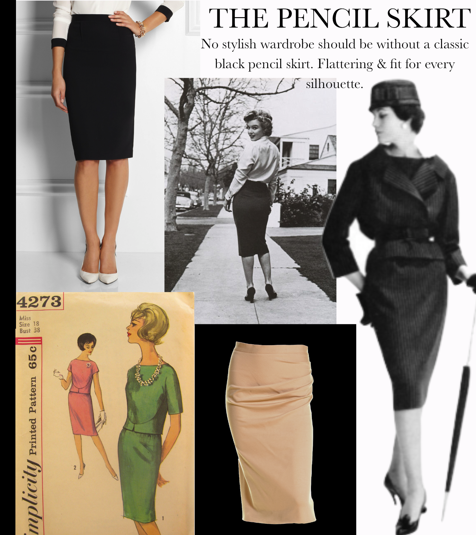 873687858d In 1940, Christian Dior created the first pencil skirt. Women immediately  embraced the curvy shape of the classic pencil skirt. The earliest pencil  skirts ...