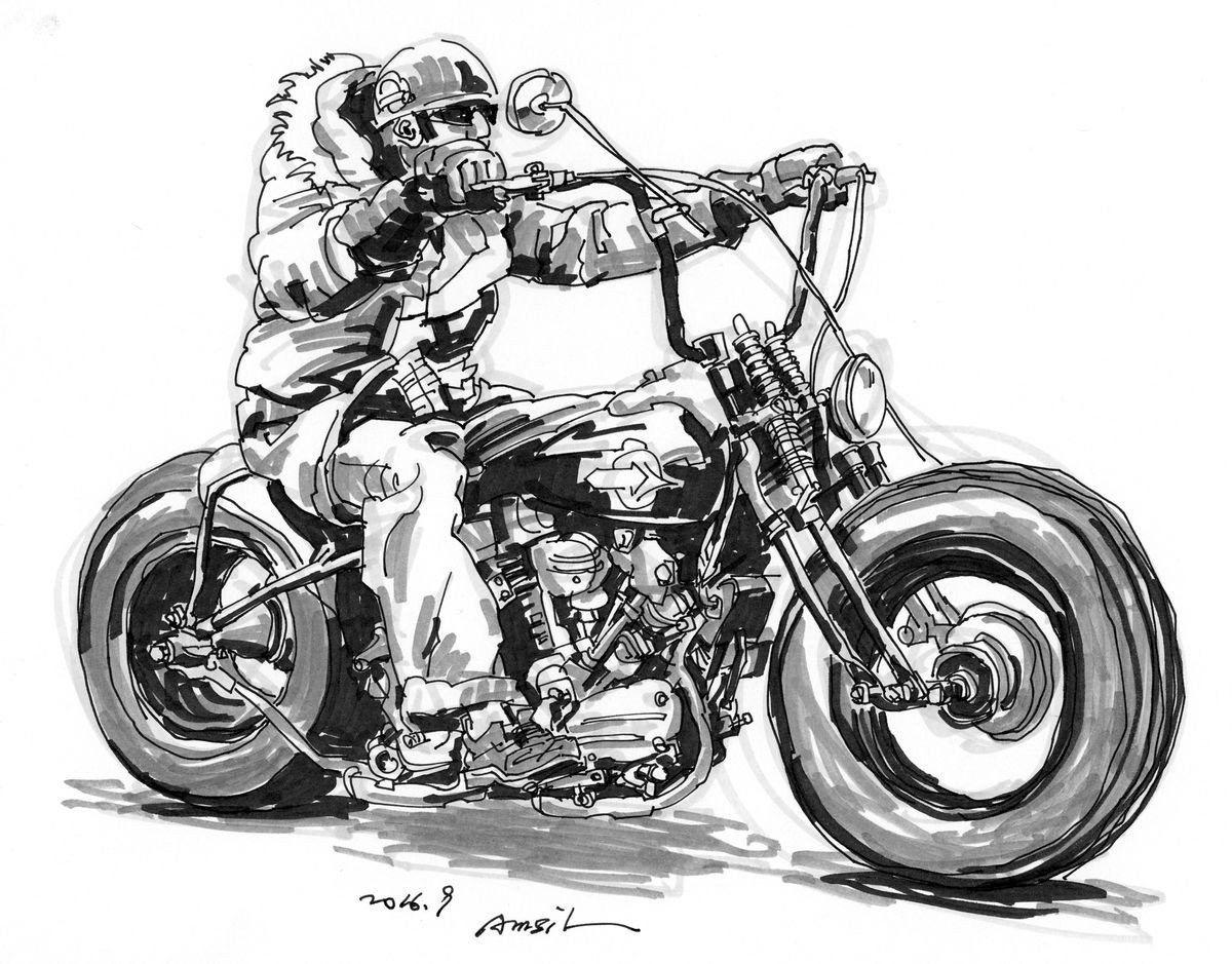 womens motorcycle cruiser chopper bike skull sticker Girls Biker Skull Decal
