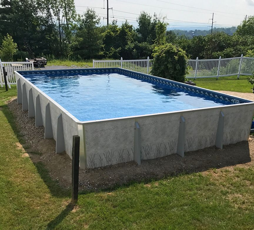 Aboveground rectangle with inside steps pools spas in - Largest above ground swimming pool ...