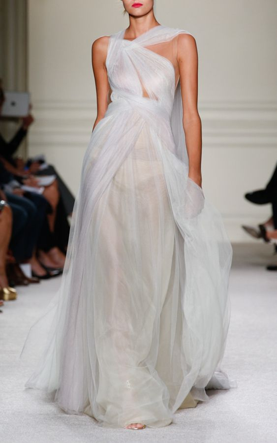 97a6459f Marchesa One Shoulder Hand Draped Grecian Gown | Dress in 2019 ...