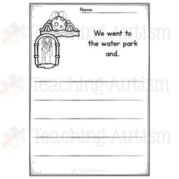 August No Prep Writing Prompt Worksheets Worksheets Literacy And