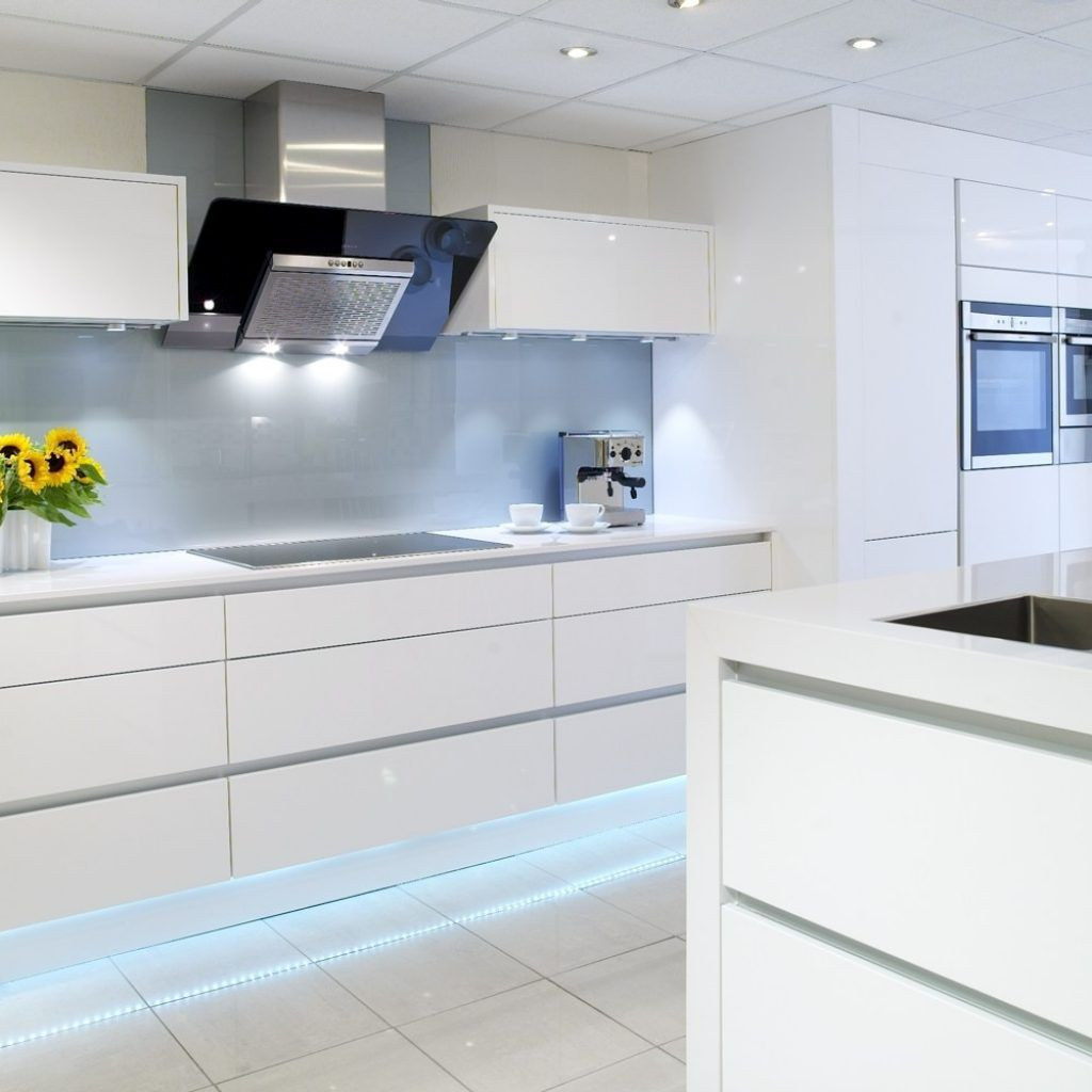 White Gloss Kitchen Decorating Ideas | http://avhts.com | Pinterest ...