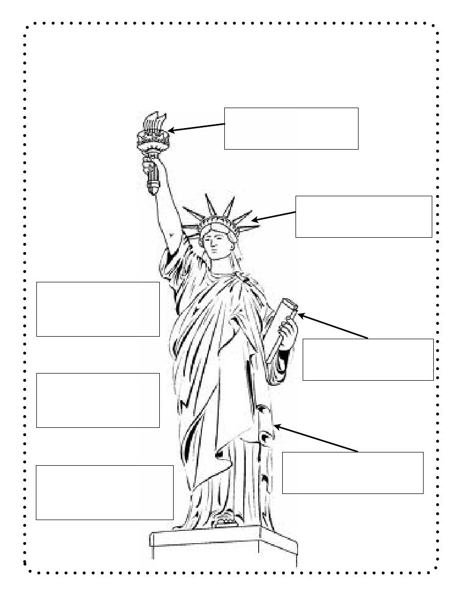 Label The Statue Of Liberty Kindergarten Social Studies