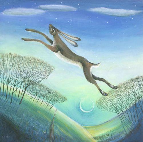 Nicholas Hely Hutchinson Art Over The Moon Bunny Art