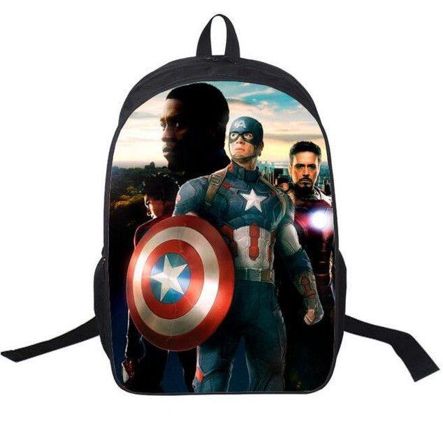 16-inch Mochila School Kids Backpack Captain America Bag Avengers Backpack  Children School Bags For Boys Supports custom 5eb932edec129